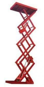 Стационарные подъемные столы с тройными ножницами