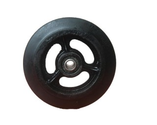 Колесо большегрузное чугун резина (без кронштейна) D 160